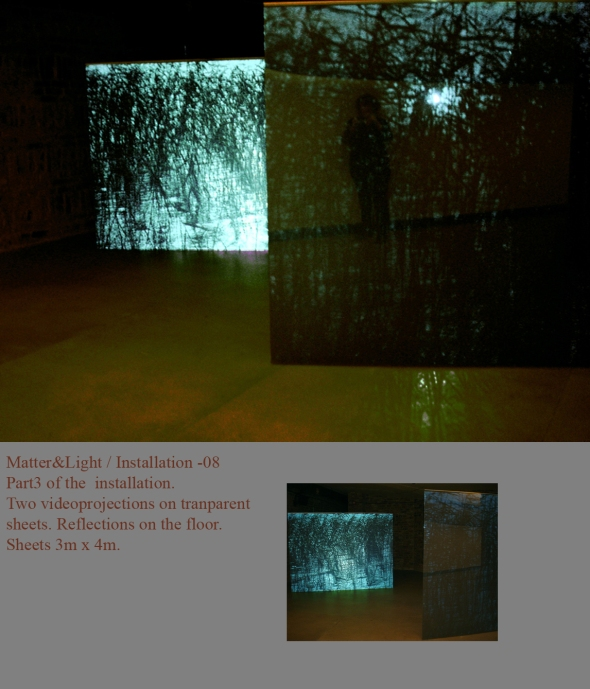 Matter&Light Part 3. of the installation. Amos Anderson  Aart Museum Helsinki, Finland