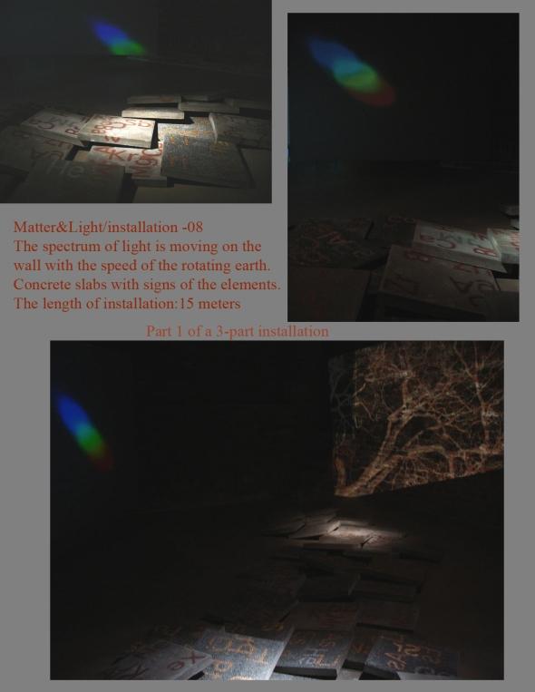 2008Matter&Light / Installatio i 3 delar. Amos Andersons Konstmuseum