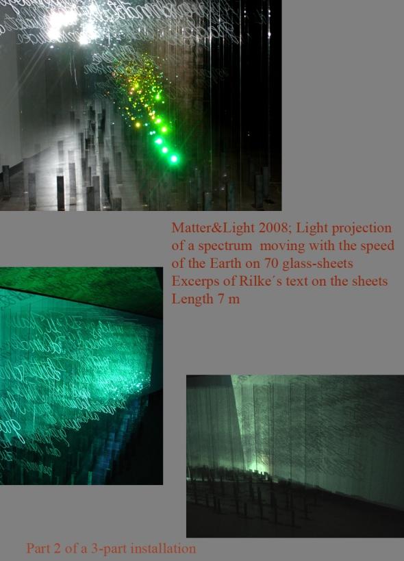 Matter & Light / installation in three rooms.  Amos Anderson Art Museum