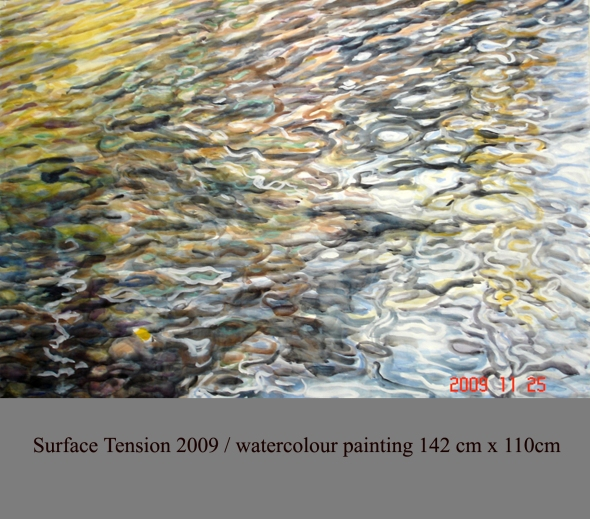 Surface Tension I.2009.Watercolour142x110cm