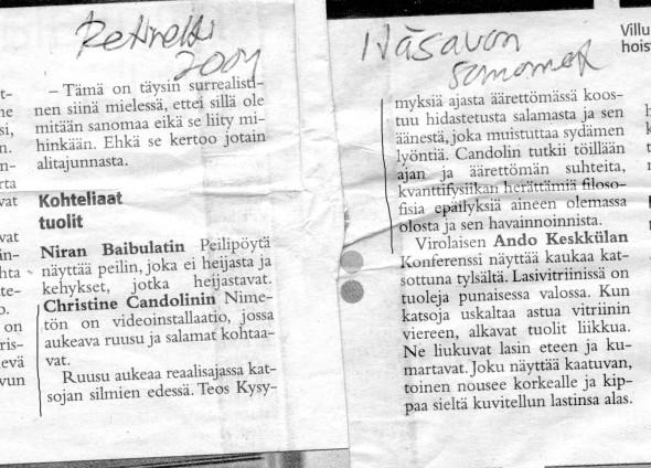 2004 Retretti Itäsavon sanomat