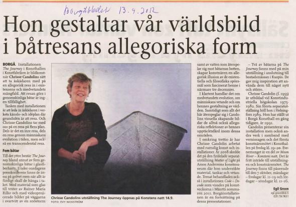 2012 Borgåbladet recension