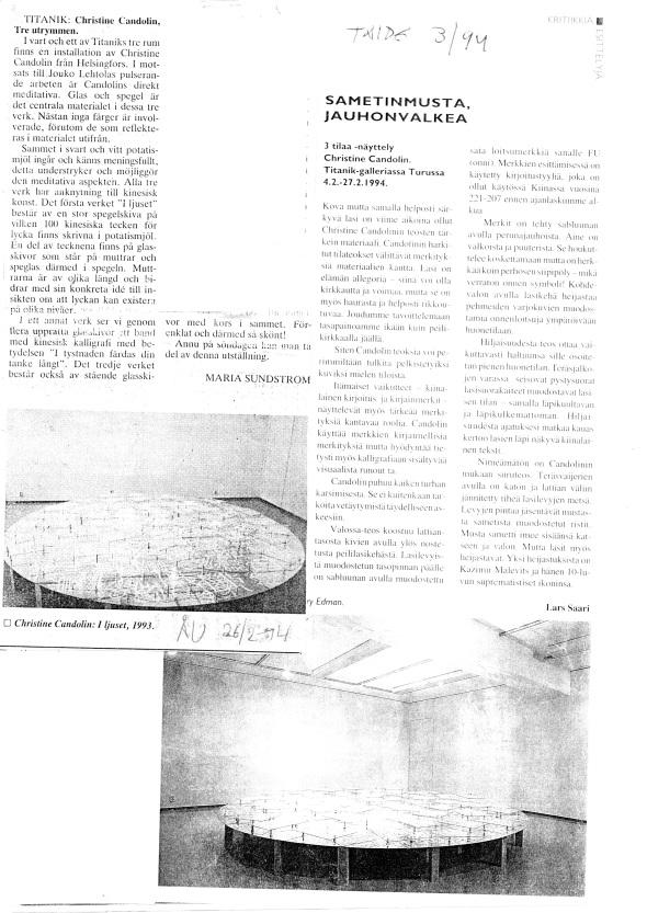 1994 TAIDE : ÅU